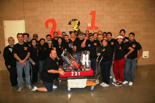 Team 231 at Dallas Regional event
